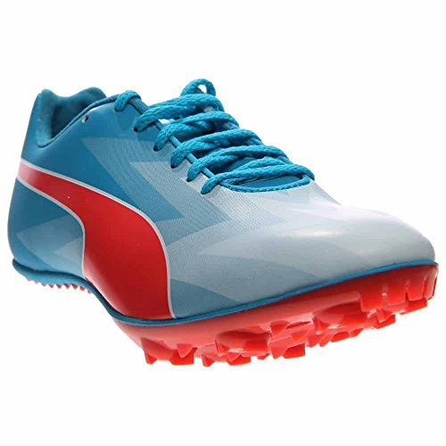 PUMA Evospeed Sprint V6 Junior Sneaker (Little Kid/Big Kid),Atomic Blue/Red Blast,6 B US Big Kid