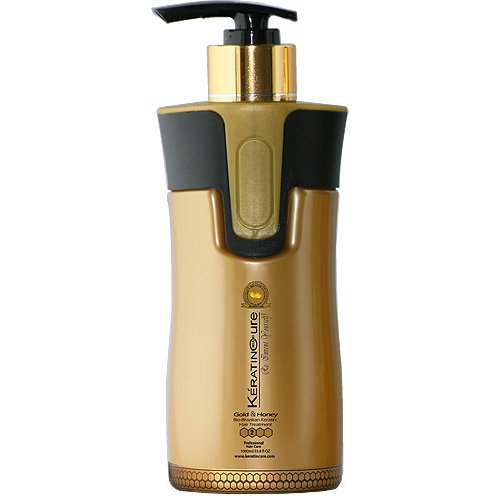 Keratin Cure 0% Formaldehyde Brazilian Hair Treatment Gold & Honey Bio-Brazilian Repair-Straightener Professional 300ml -10.14 fl oz KERATINA BRASILERA TRATAMIENTO QUERATINA Safe for Kids by Keratin Cure