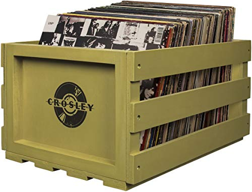 - Crosley AC1004A-SG Record Storage Crate Holds up to 75 Albums, Sage