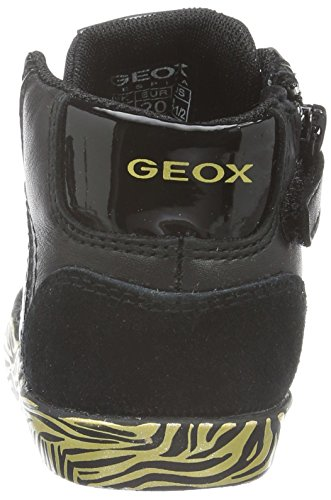 Geox B Kiwi Girl D, Botines de Senderismo para Bebés Negro (Black / Gold C0495)