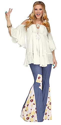 Hippie Gauze Top Costume - One Size - Dress Size 4-14 ()