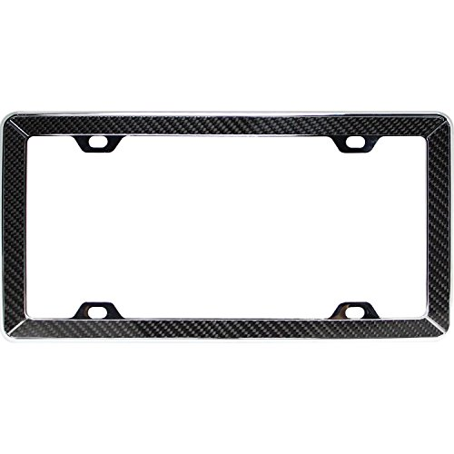 (Pilot Automotive WL264-CF Chrome Carbon Fiber License Plate Frame)