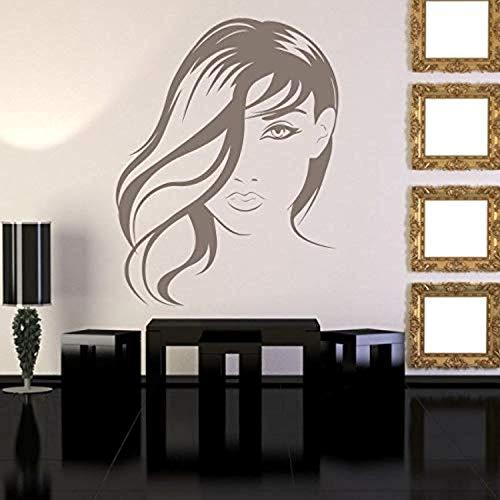 Silouette Girl (Beauty SalonHairdressing Lady Artistic Hair Silouette Art Wall Decals Decor Vinyl Sticker SK12730)