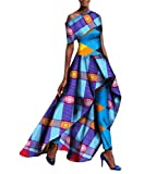 SportsX Women Dashiki Set Flexible Fit Long Pants Africa Waist Long Dress 8 3XL