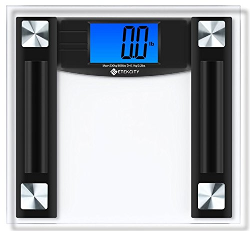 Etekcity Digital Body Weight Bathroom Scale, 506 Pounds, Large 4.3 Inch Backlit LCD Display