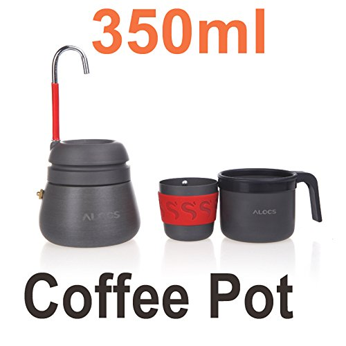 EverTrust(TM) 350ml Portable Outdoor Camping Hiking Coffee Maker Pot with 2 Cups For Outdoor Sports by EverTrust