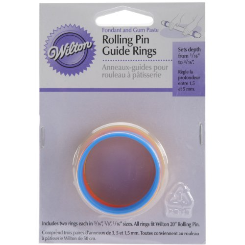 Wilton Fondant 20-Inch Rolling Pin Guide Rings
