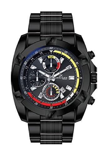 Reloj para caballero Daniel Klein con esfera negra en acero negro. Resistente al Agua 3ATM. Aresso