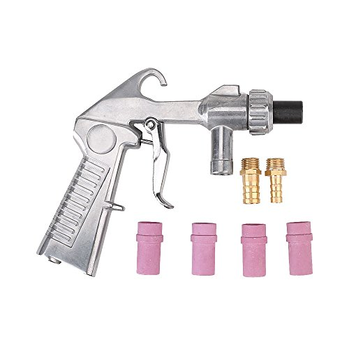 Sandblaster Gun Air Siphon Sand Blasting Gun with Iron / Ceramic Nozzles Kit by Bewant