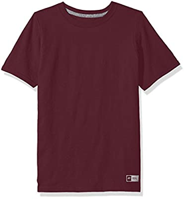 Russell Athletic Big Boys' Cotton Performance Short Sleeve T-Shirt