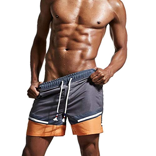 Keliay Bargain Shorts Trunks Men's Swim Trunks Quick Dry Beach Surfing Running Swimming Shorts Gray