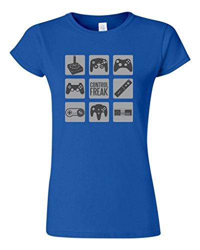 Junior Control Freak Gamer Controller Novelty DT T-Shirt Tee (XX Large, Royal Blue)