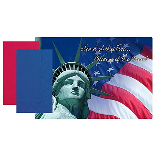 Patriotic Land of The Free Paper Placemats with Napkins (30)