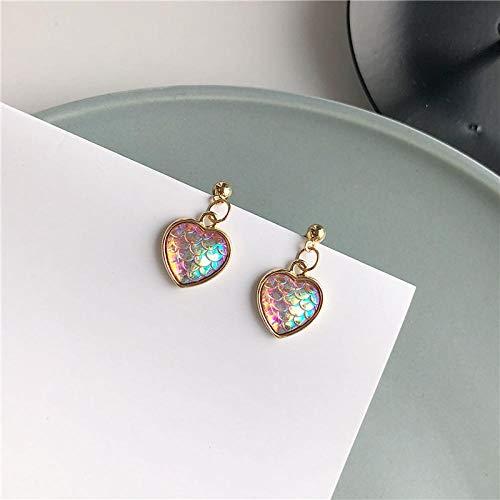 (Mermaid Ji Scale Love Earrings/Super Fairy Girl Earrings/Ear Pierced Ear Clips @ Earrings)