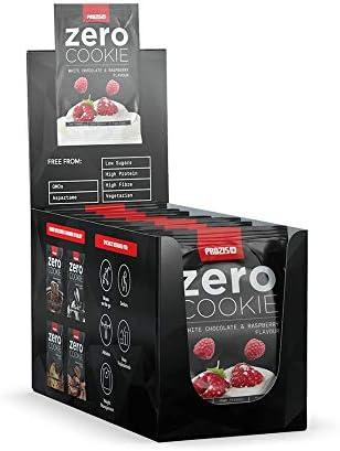 Prozis 12 x ZERO Cookie, Chocolate blanco con frambuesas - 12 Galletas de 60 g