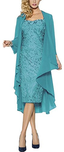 VaniaDress Women Two Piece Mother of The Bride Dress Prom Gown V107LF Turquoise US6