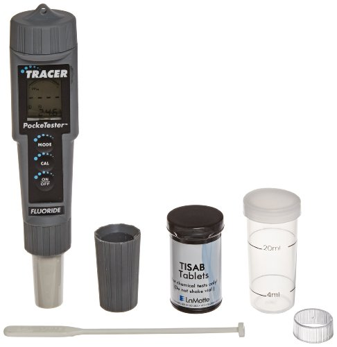 (LaMotte 1756 Fluoride Tracer Pocket Tester, 0.1 to 10ppm Range, +/-3% Accuracy, 0.1 ppm Resolution)