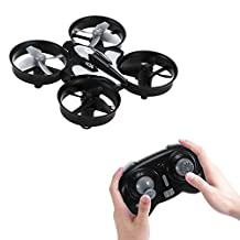 GBTIGER JJRC H36 Mini UFO Drone 2.4GHz 4CH 6 Axis Gyro Headless Mode RC Quadcopter with Remote Control RTF One-key Return, Black