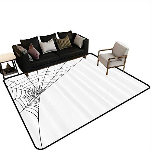 Living Room Rug Modern Spider Web Icon Background