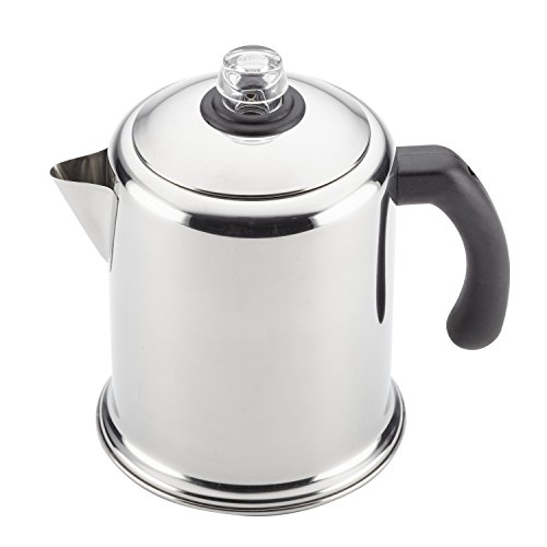 Farberware 47053 Classic Stainless Steel Yosemite 12-Cup Coffee Percolator, 12 Cup Coffee Maker, Silver
