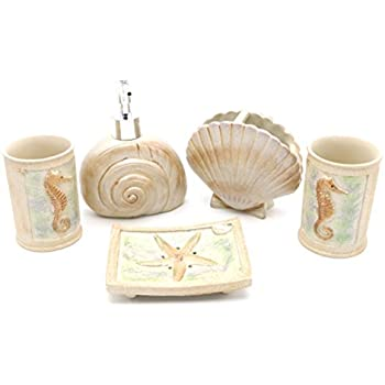 Awesome Beach Seashells Bathroom Accessories, Ivory Ocean Starfish Bathroom  Accessory Set For Bathroom, Powder Room