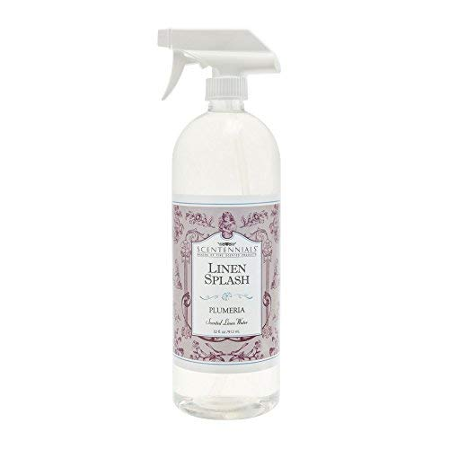 Scentennials Plumeria Linen Spray 32oz - A Must Have for All Your linens, Laundry Basket or just Spray Around The House. ()