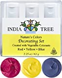 India Tree Natural Decorating Colors, 3 bottles(red,yellow,blue)2.25 oz/63 grams