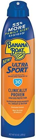 Banana Boat Ultra Sport Sunscreen Spray, New Formula, SPF 30, 9.5 Ounces