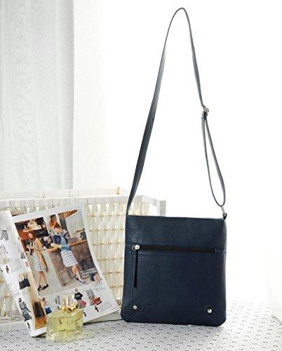 Multicolor mujer Mujer Bolso Hombro Bandolera Totalizador Bolso Bolso Azul Bolsos de JiaMeng UnR7T4Xx