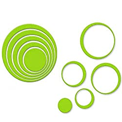 Wall Sticker, Leegor 1 Set Indoors Decoration Circles Creative Stereo Removable 3D DIY Wall Stickers (Green)