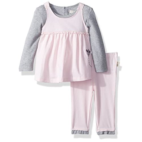 Baby Girls Top and Pant Set Burts Bees Baby Tunic and Leggings Bundle 100/% Organic Cotton