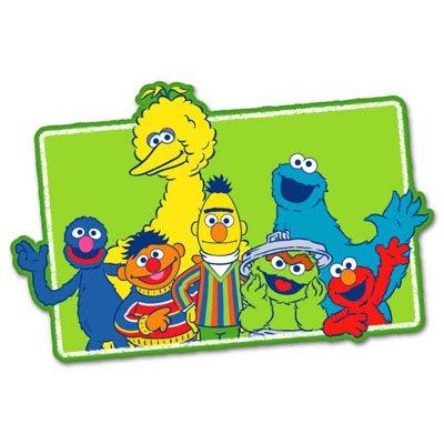 """Sesame Street kids vynil vynil car sticker 5"""" x 3"""""""