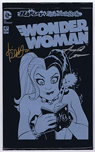 Wonder Woman #47 Black Bag NM Signed w/COA by Amanda Conner, Jimmy Palmiotti