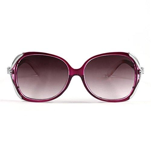 c04eadf11d Loveje Women Fashion Sunglasses Eyewear Vintage Style Casual Round Shape  Sunglasses (Purple)