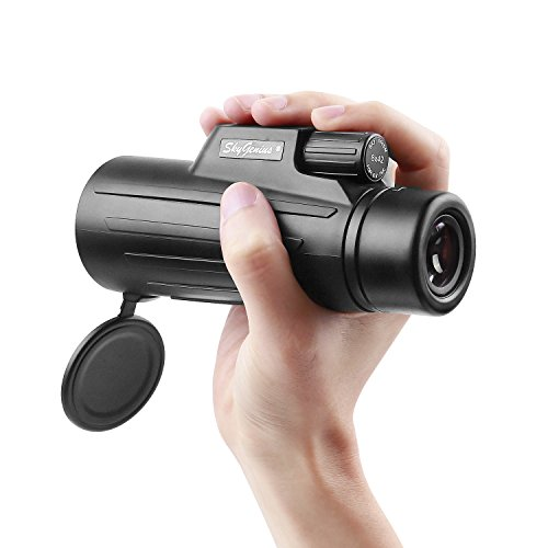 8×42 Compact Lightweight Pocket Monocular Telescope For Adults Kids. HD Quality Monocular W/Fully Coated Lens For Bird Watching Hunting Hiking Traveling Wildlife Watching (0.72lb)