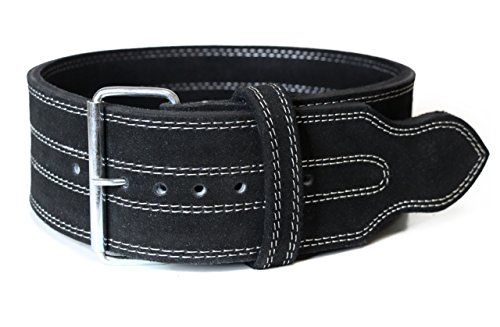 Serious Steel Fitness Single Prong Powerlifting Leather Belt - Large