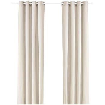 Amazon Ikea Sanela Curtains Red Cotton Velvet Blackout 2 Panels