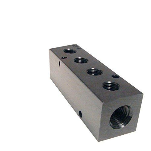Hydraulic Manifold (Pneumadyne M35-250-4, Inline Manifold, 4-Station, 3/4 NPT Input, 1/4 NPT Output)