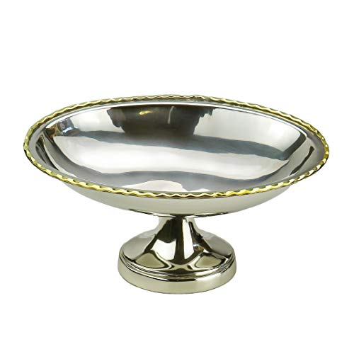 Classic Touch Decor Footed Boat Shaped Bowl with Gold - Bowl Gold Footed