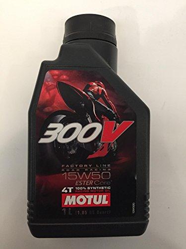 Lubricante, Aceite Sintetico Motul 4T, 300V 15W50 RACING SINTETICO 1L, aplica para modelos Pulsar 180, 200 NS, 200 AS, RS200,...