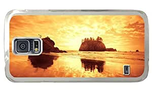 Hipster slim Iphone 5/5S Cases beach sundown rocks PC Transparent Iphone 5/5S