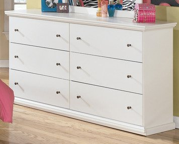 Ashley Bostwick Shoals 6 Drawer Wood Double Dresser in White