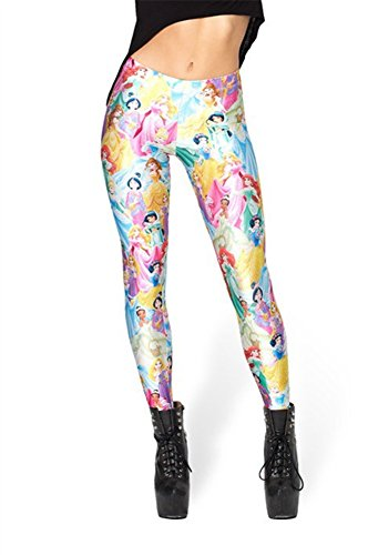 Disney Tights (Zanuce Women's 2015 NEW Anime Print Pattern Tight Stretch Leggings(Disney Princess))