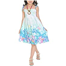 Mullsan Little Big Girls' toddler Long Dress Bolero Casual Beach Dresses Size 3-12