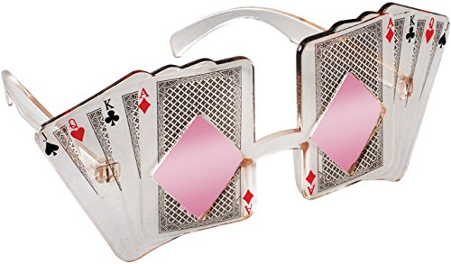 Loftus International Star Power Poker Themed Sunglasses, Pink/Transparent, One - Sunglass International
