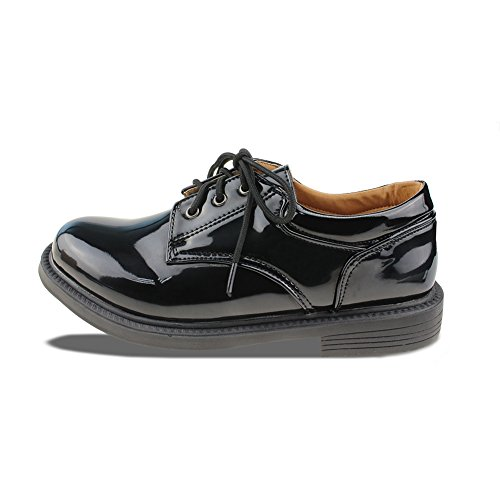 Maxu Boys Wingtip Leather Flats Classic Oxfords Type 2