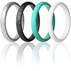 ThunderFit Thin Silicone Wedding Ring is the most High Performance Wedding Rings for the Totally Committed!       · High Performing Premium Quality Silicone Wedding Band. Completely Safe   · Safety for professionals prevent finger injuries.  ...