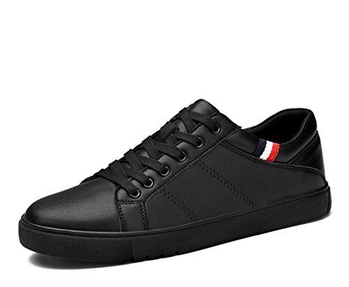 piatto uomo casual moda da Scarpe Scarpe pelle eleganti bianco in Black da Scarpe nere uomo da con uomo tacco classiche color Tw6qdqvC