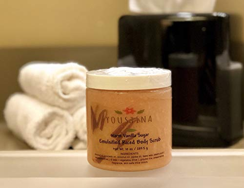 Emulsified Rice body scrub with warm vanilla by Youstina Naturals