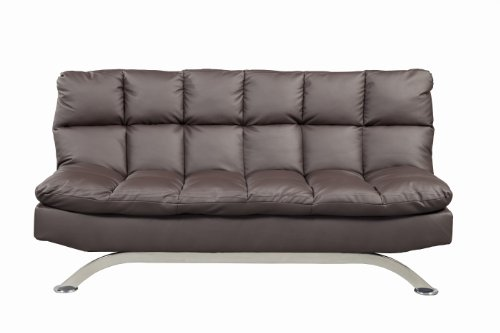 Furniture of America Adelle Convertible Sofa/Futon, Dark Expresso